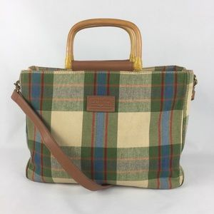Relic By Fossil Plaid Tote Bag